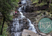 Erinne Kennedy Leads the Way to the Top of Lye Brook Falls in Vermont