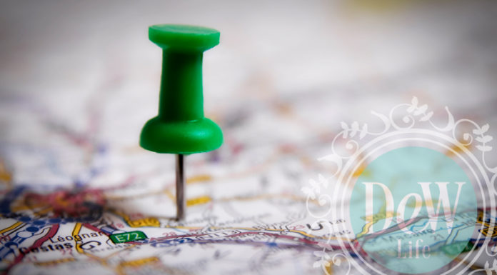 pin on a map to depict planned financial kpi destination