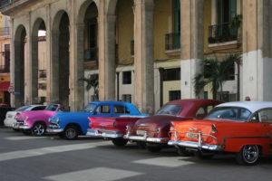 Old-timey Classic Cars in Havana Cuba
