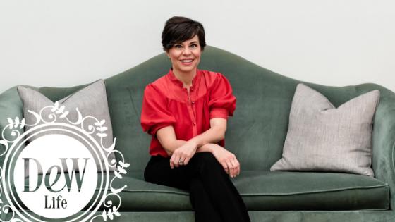 Rachel wall on chair